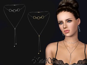 Sims 3 — NataliS TS3 Choker with geometric pendants by Natalis — Necklace-choker with contour geometric pendants. FA-YA