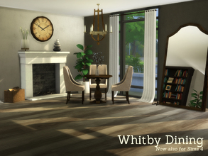 Sims 4 — Whitby Dining by Angela — Whitby Dining set, classic wooden diningset for Sims 4. This set contains the