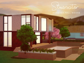 Sims 3 — Forever Fall House by Simervator — Forever Fall House will be a home to remember. Surrounded by warm reds,