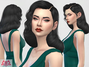 Sims 4 — Dita Von Teese  hair by Colores_Urbanos — new meshes made by me -Need your game updated with the latest patch