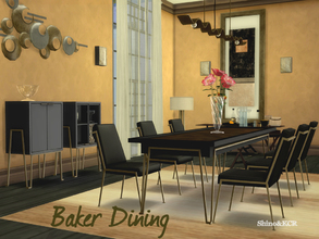 Sims 4 — Dining Baker by ShinoKCR — Dining Set inspired by Jean Louis Deniot