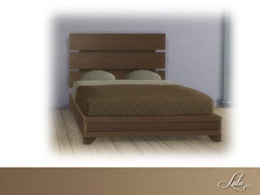 Sims 4 — Montanna Bedroom Bed  by Lulu265 — Part of the Montanna Bedroom Set 4 colour options included