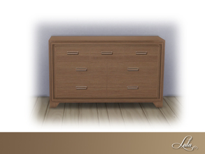 Sims 4 — Montanna Bedroom Dresser by Lulu265 — Part of the Montanna Bedroom Set 4 colour options included