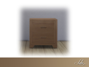 Sims 4 — Montanna Bedroom Nightstand by Lulu265 — Part of the Montanna Bedroom Set 4 colour options included