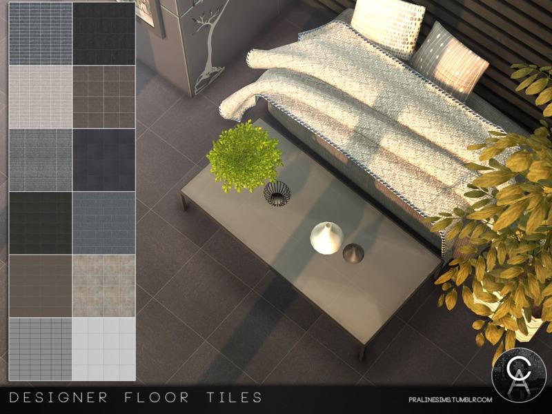 Pralinesims Designer Floor Tiles - Carrelage e tiles