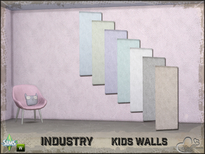 Sims 4 — Industry Walls Dots by BuffSumm — Part of the *Industry Series* ***TSRAA***