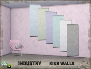 Sims 4 — Industry Walls Uni by BuffSumm — Part of the *Industry Series* ***TSRAA***