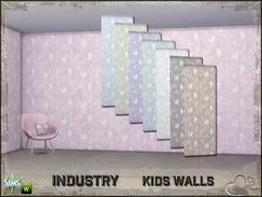Sims 4 — Industry Walls Unicorn by BuffSumm — Part of the *Industry Series* ***TSRAA***