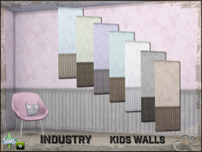 Sims 4 — Industry Walls Uni Siding Bottom by BuffSumm — Part of the *Industry Series* ***TSRAA***