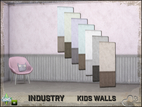 Sims 4 — Industry Walls Dots Siding Bottom by BuffSumm — Part of the *Industry Series* ***TSRAA***