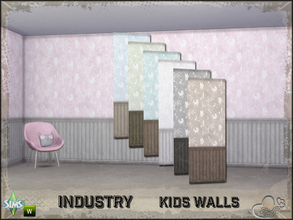 Sims 4 — Industry Walls Unicorn Siding Bottom by BuffSumm — Part of the *Industry Series* ***TSRAA***