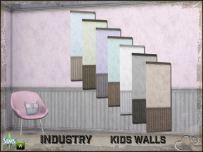 Sims 4 — Industry Walls Uni Siding Bottom and Top by BuffSumm — Part of the *Industry Series* ***TSRAA***