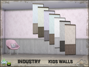 Sims 4 — Industry Walls Dots Siding Bottom and Top by BuffSumm — Part of the *Industry Series* ***TSRAA***