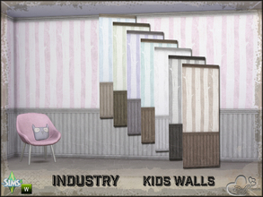 Sims 4 — Industry Walls Tree Siding Bottom and Top by BuffSumm — Part of the *Industry Series* ***TSRAA***
