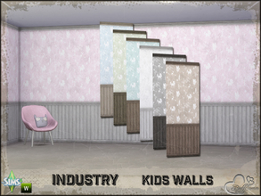 Sims 4 — Industry Walls Unicorn Siding Bottom and Top by BuffSumm — Part of the *Industry Series* ***TSRAA***