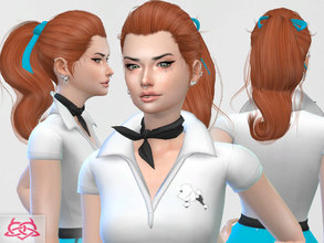 Sims 4 — Ponytail 3 by Colores_Urbanos — new meshes made by me -Need your game updated with the latest patch from