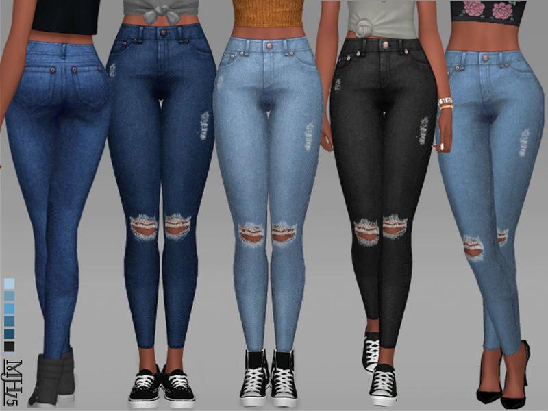 High waist jeans sims 4