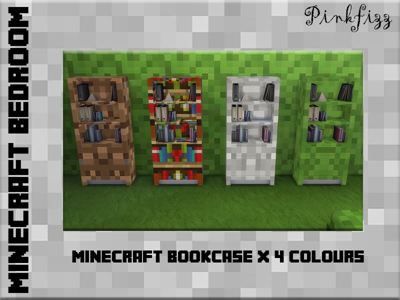 Pinkfizzzzzs Pinkfizz Minecraft Bookcase