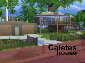 Sims 4 — Caletes house NO CC by godkamia — An almost replica of Caletes house on the Ibiza island from the racing