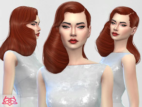 Sims 4 — Dita Von Teese hair 2 by Colores_Urbanos — 1500 followers gift on tumblr! http://coloresurbanos.tumblr.com/ new