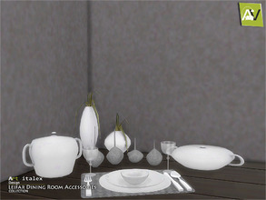 Sims 4 — Leifar Dining Room Accessories by ArtVitalex — - Leifar Dining Room Accessories - ArtVitalex@TSR, Apr 2017 - All
