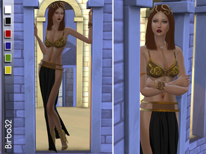 Sims 4 — Egyptian luxory by Birba32 — An elegant and sexy dress for a party in the ancient Egypt. In six colours. Mesh by