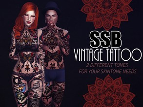 Sims 4 — SSB Traditional Tattoo by SavageSimBaby — If you want to blend into one of those graffiti walls as a piece of