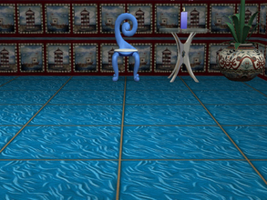 Sims 2 — Interior Ideas-Ocean Blue Set-Ocean Blue Tile by allison731 — Blue tile with wavy lines. Specifications: