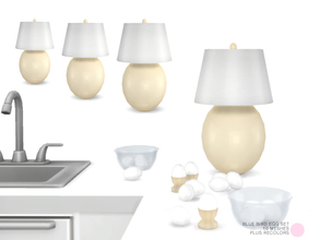 Sims 4 — Blue Bird Egg Set by DOT — Blue Bird Egg Set. 10 eggs in Deco and Lamp form. Modern and Contemporary Egg Ceramic