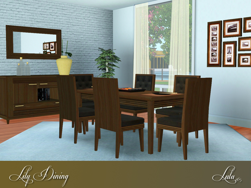 Lulu265 39 s lily dining for Sims 3 dining room ideas