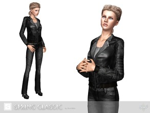 Sims 3 — Spring classic jacket by Shushilda2 — Leather jacket for cold spring - new mesh - 2 recolorable channels - low