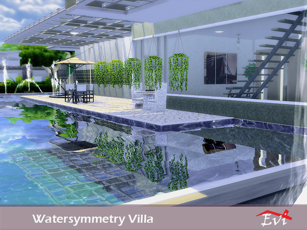Evi 39 s watersymmetry villa for Pool designs sims 4