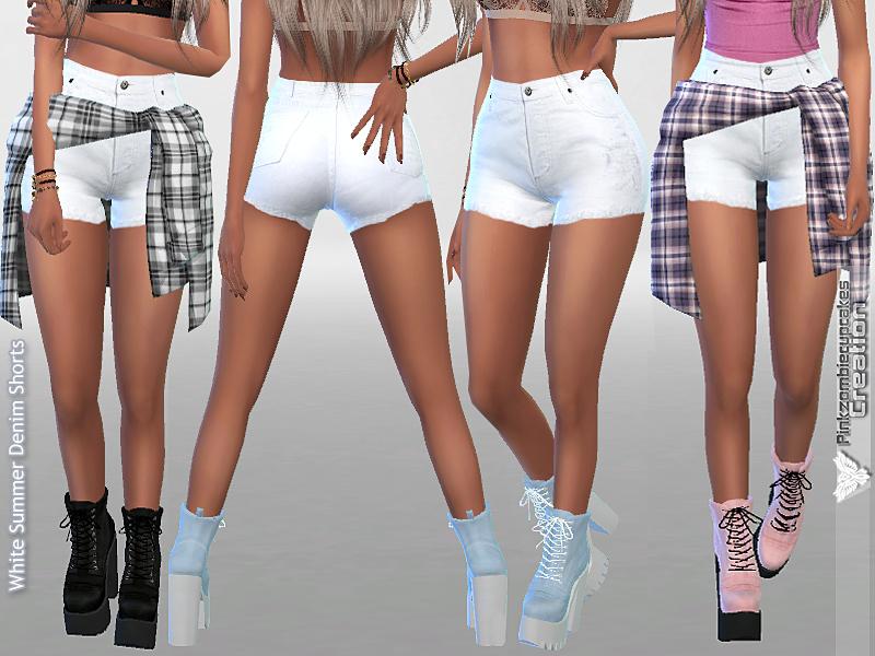 Pinkzombiecupcakes' White Summer Denim Shorts