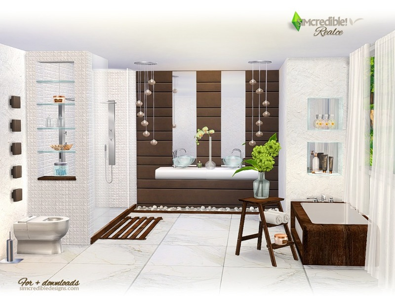Simcredible 39 s realce for Bathroom ideas sims 4