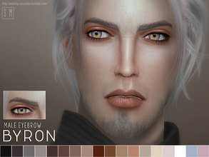 Sims 4 — [ Byron ] - Male Eyebrows by Screaming_Mustard — A new eyebrow for males Sims. In 18 shades. For males , child