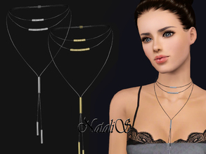 Sims 3 — NataliS TS3 Boho Multilayer Choker Necklace by Natalis — Boho multilayer choker necklace. FA-YA