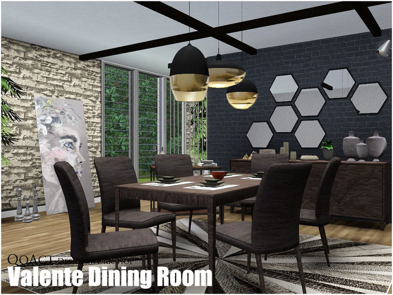 Qoact 39 s valente dining room for Sims 3 dining room ideas