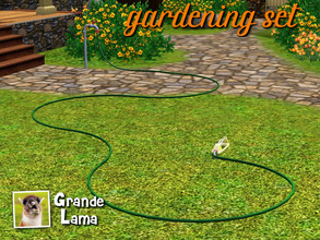 Sims 3 — GrandeLama GardeningSet by GrandeLama — A set of three objects to combine with the base game sprinkler in order