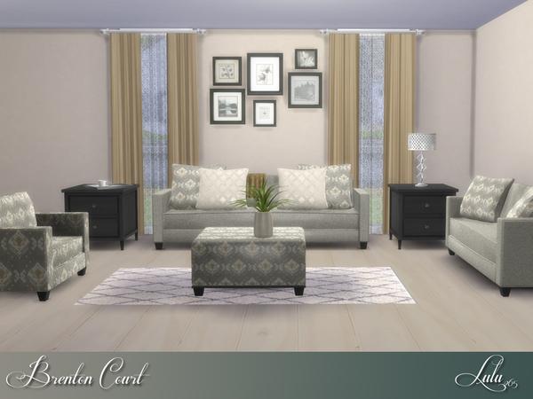 Lulu265 39 s brenton court living for Sims 4 living room ideas