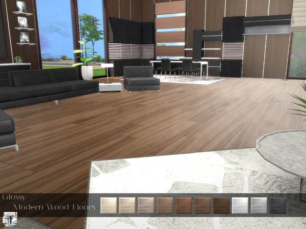 Torque S Glossy Modern Wood Floor