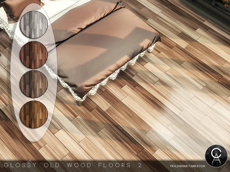 Pralinesims 39 glossy old wood floors 2 for Hardwood floors not shiny