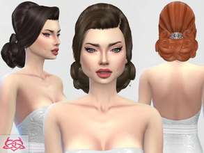 Sims 4 — Wedding hairstyle by Colores_Urbanos — new meshes made by me -Need your game updated with the latest patch from