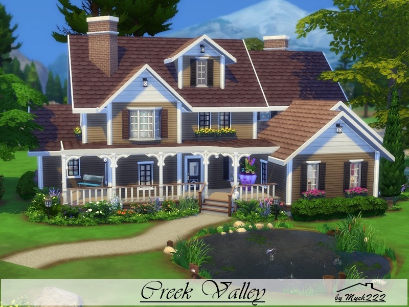 Mychqqq 39 s creek valley for Best house designs sims 4