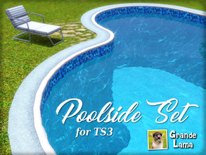 Sims 3 — GrandeLama Poolside set by GrandeLama — A set of 13 fences that work like a pool border, to complete and