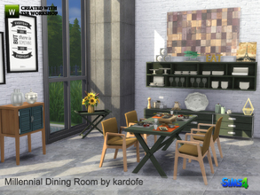 Sims 4 — kardofe_Millennial Dining Room by kardofe — To finish with the Millennial series, today this nice and practical