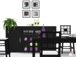 Sims 4 — Fushion Set by DOT — Fushion Set. Contemporary and Modern with an Asian flare, included Dining Table, Chair and