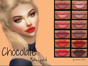 Sims 4 — Chocolate Matte Lipstick by Baarbiie-GiirL — Hello all ^.^ i'm back with a new matte lipstick for you !! I hope