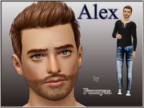 Sims 3 — Alex by Funnyaa by Funnyaa — Alex by Funnyaa Alex is a young handsome sim. I hope you will like him. Please do