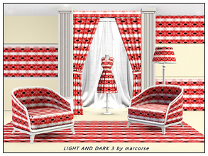 Sims 3 — Light and Dark 3_marcorse by marcorse — Geometric pattern: alternating light and dark bands in wine red, black
