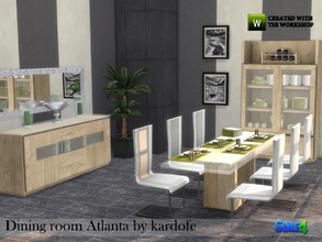 Sims 4 — kardofe_Dining room Atlanta  by kardofe — Dining room with modern design, combining the coolness of the glass